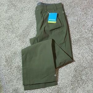 Columbia Omni-Shield green pants women New